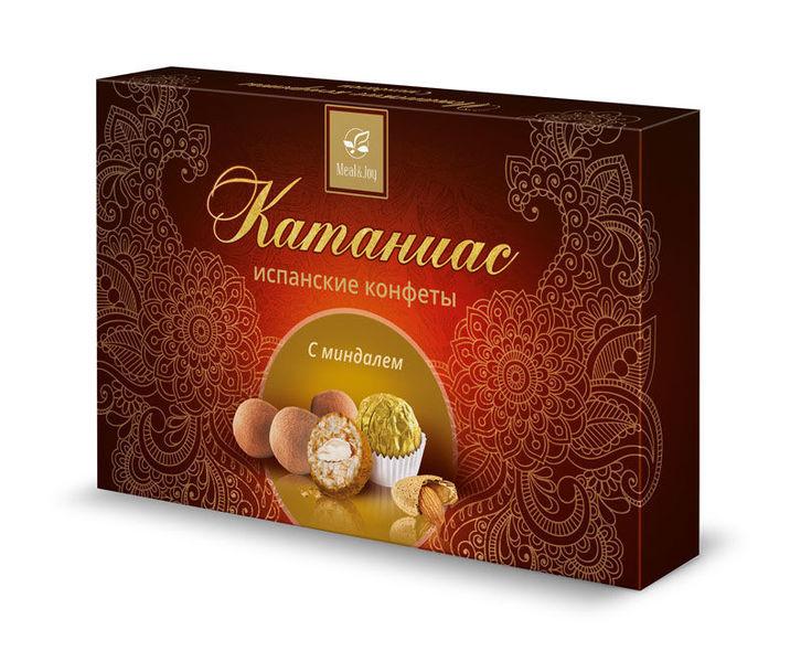 Конфеты Катаниас с миндалем, картонная упаковка 125 г.