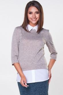 Необычная блуза с имитацией рубашки