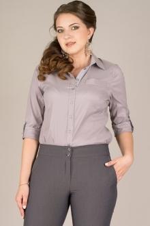 Классическая светло-серая блуза