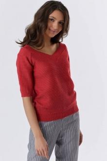 Пуловер из смесовой пряжи
