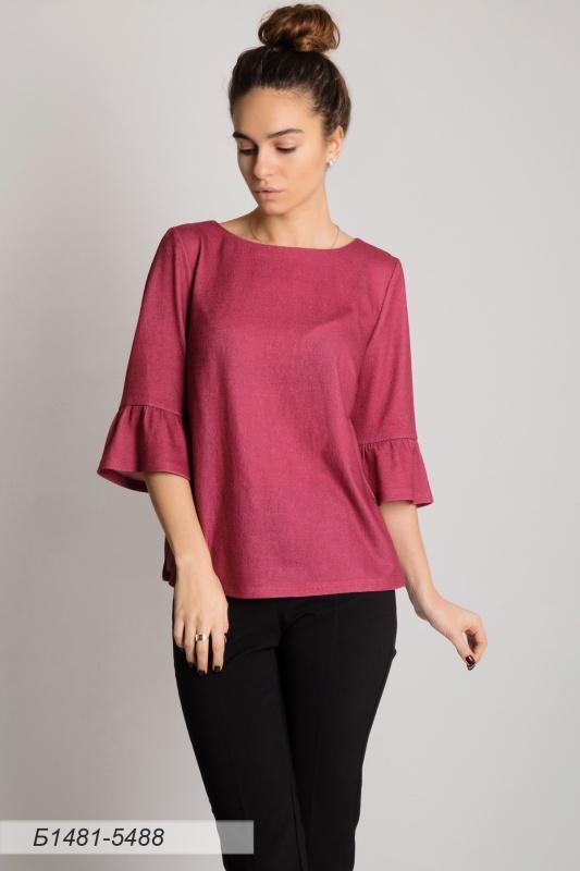 Блузка 1481 тр-ж Палермо розово-лиловый