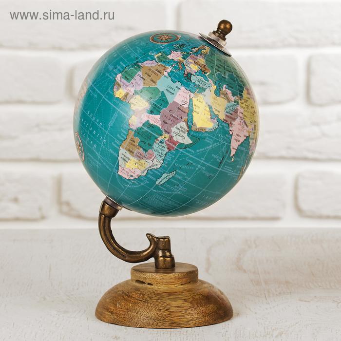 """Сувенир глобус \""""Океаны\"""" 12,5х12,5х21,5 см"""