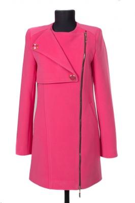 01-4090 Пальто женское демисезонное Кашемир Розовый