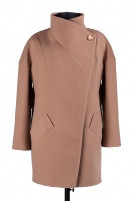 01-4244 Пальто женское демисезонное Кашемир Какао