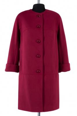 01-4303 Пальто женское демисезонное Кашемир Бордо