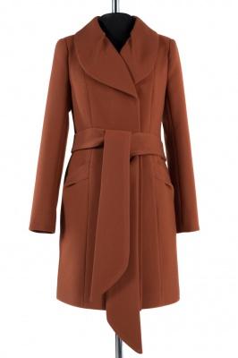 01-4509 Пальто женское демисезонное (пояс) Кашемир Корица