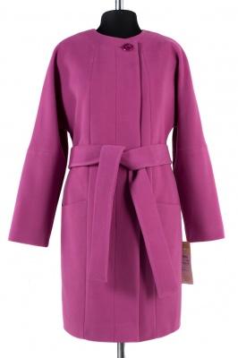 01-4694 Пальто женское демисезонное (пояс) Кашемир Цикламен