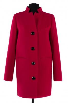 01-4813 Пальто женское демисезонное Кашемир Красный