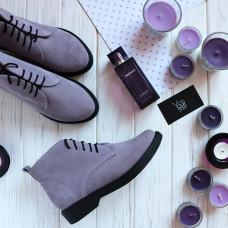 Ботинки из лиловой замши Арт. 12-20(Sn4)
