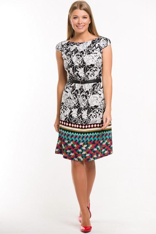 Платье с ремнем 7527
