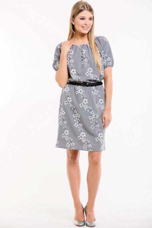 Платье с ремнем 7523