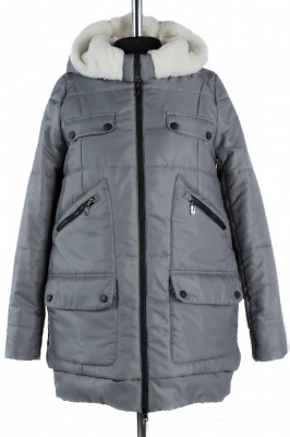 05-0546 Куртка зимняя Scandinavia (Синтепон 300) Плащевка Серый