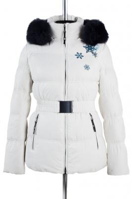 05-0881 Куртка зимняя (пояс) Плащевка Белый