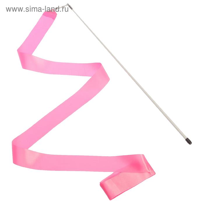 Лента гимнастическая с палочкой, 4,3 м, цвета МИКС