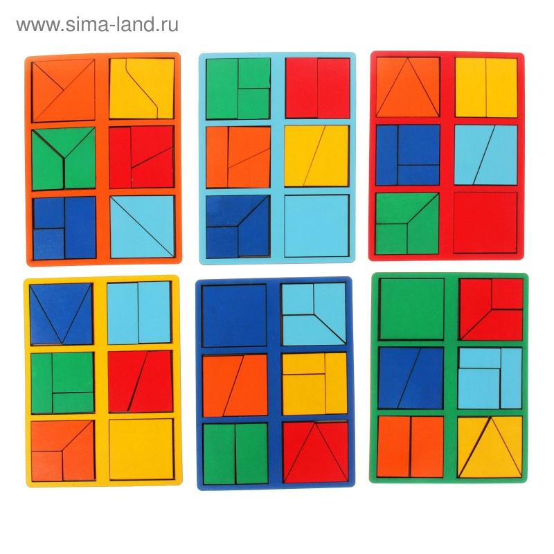"\""Сложи квадрат\"" Б.П.Никитин, 1 уровень (мини), цвета МИКС"