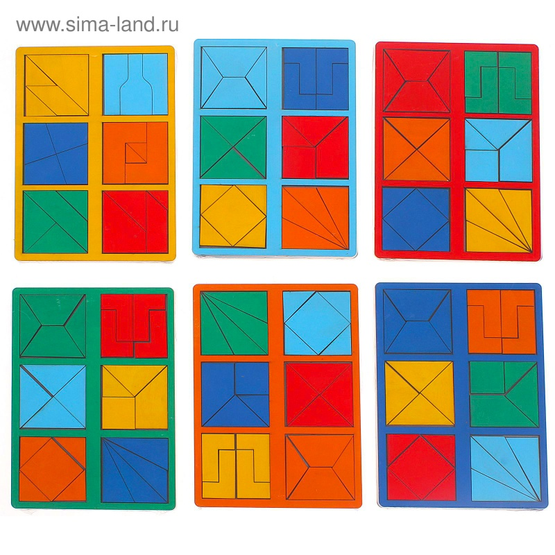 "\""Сложи квадрат\"" Б.П.Никитин, 2 уровень (мини), цвета МИКС"