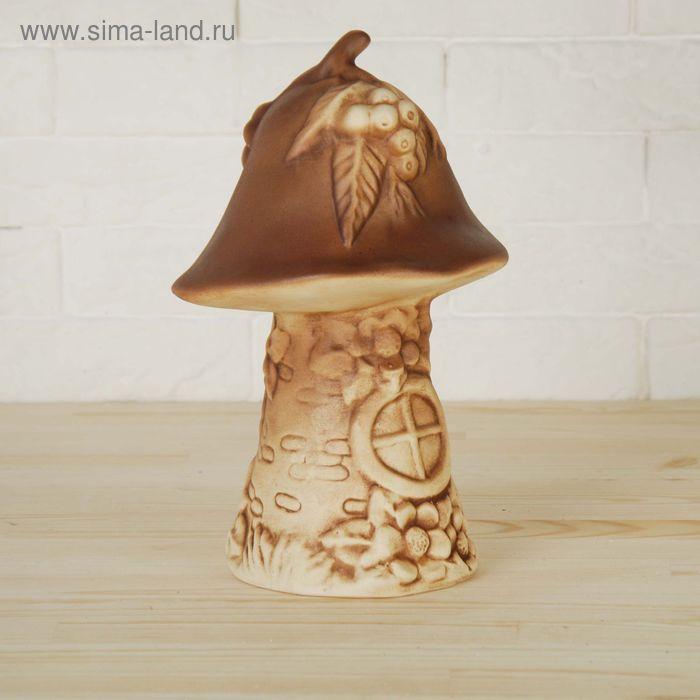 """Садовая фигура """"Сказочный гриб"""" коричневый, шамот"""