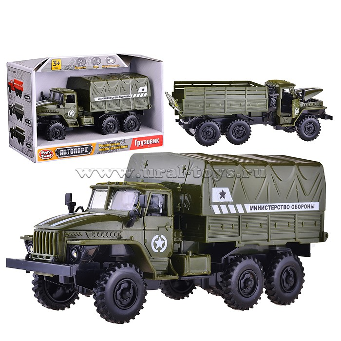"Машина 9494-C \""Автопарк\"" Грузовик Мин. Обороны на батарейках, в коробке"