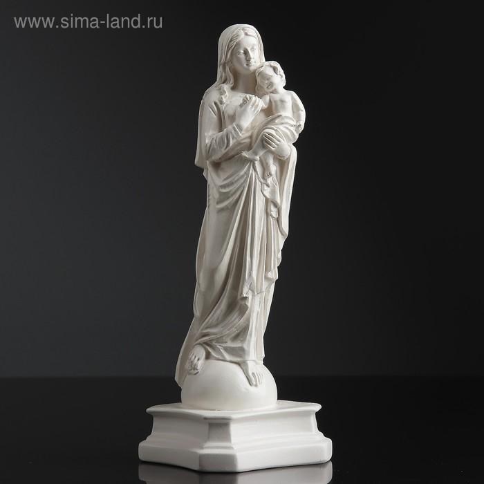 """Статуэтка \""""Дева Мария\"""" с младенцем, малая, белая"""