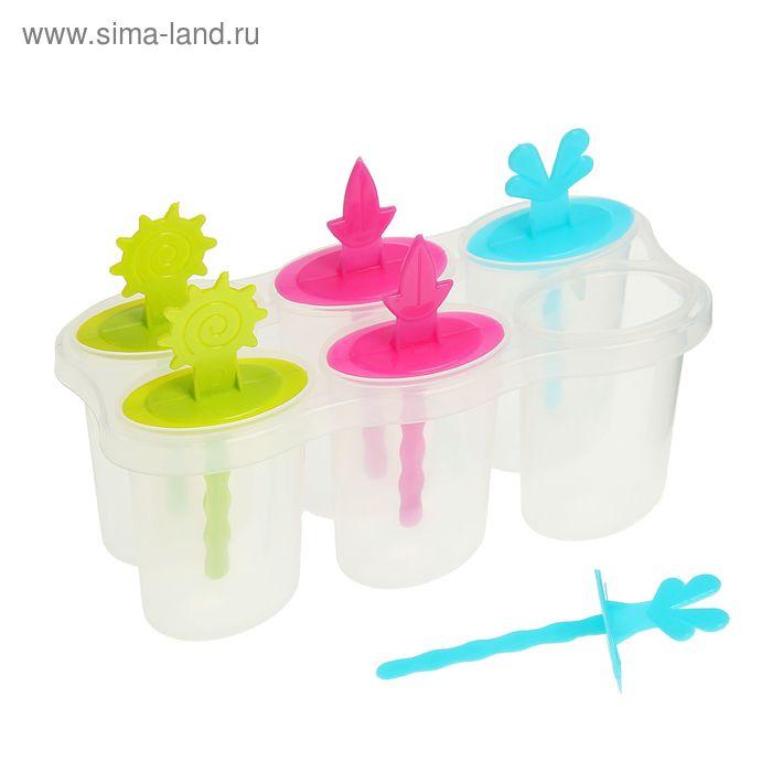 "Форма для мороженого \""Сказка\"", 6 ячейка, цвета МИКС"