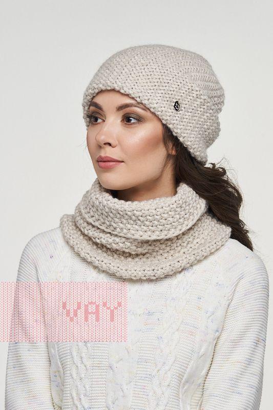 Комплект (шапка,шарф-снуд) 182-8701