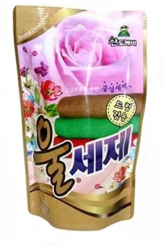 005108 SANDOKKAEBI Жидкое средство для стирки деликатных тканей, шерсти, шелка, 500 мл, з/б