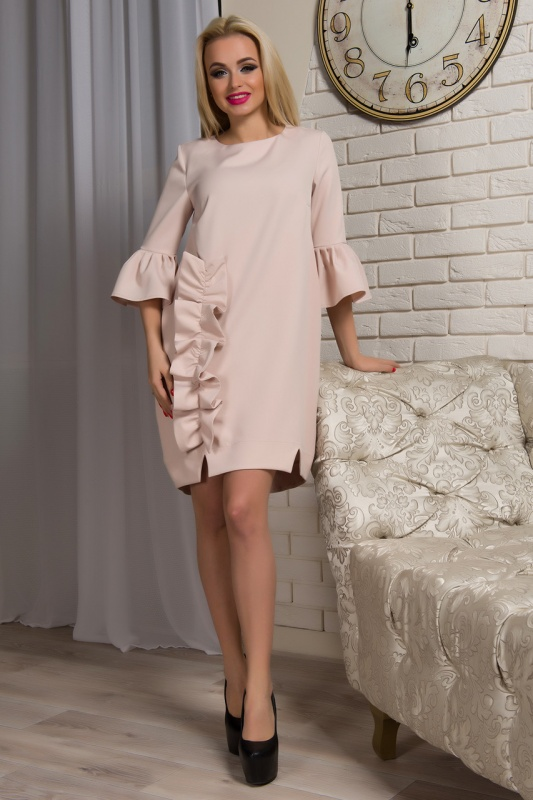 Платье Варьете ПВ930 от First Land Fashion, цвета беж, красный