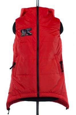 04-1938 Куртка демисезонная (синтепон 150) Плащевка Красный