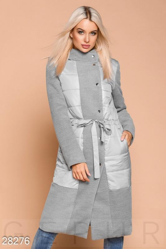 Пальто со вставками