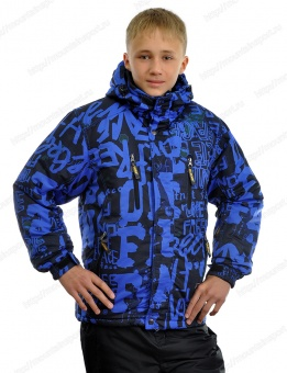 Куртка+Полукомбинезон мал. подростк. KALBORN K13-432 чёрный/синий (906)