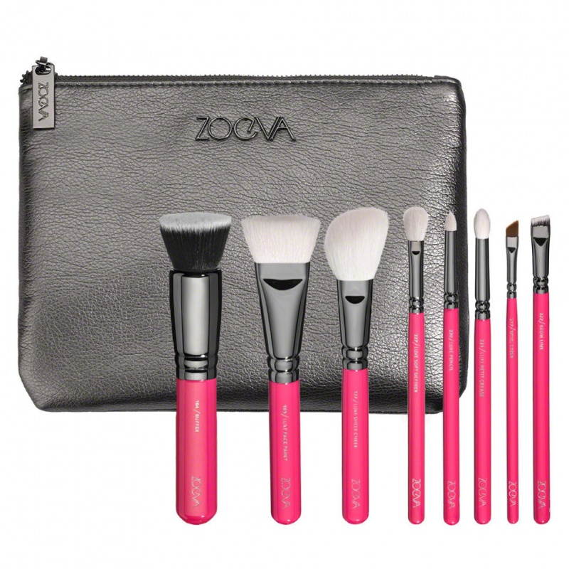 Набор кистей Zoeva PINK ELEMENTS CLASSIC SET 8 шт