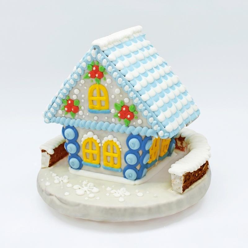 Пряничный домик в целлофане