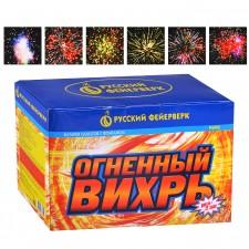 """Батарея салютов с фонтаном \""""Огненный вихрь\"""" (1\"""" х 22)"""