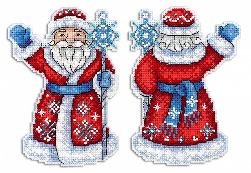 Набор для вышивания ЖАР-ПТИЦА арт.Р-312 Дедушка Мороз 13х10 см