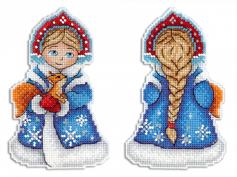 Набор для вышивания ЖАР-ПТИЦА арт.Р-311 Снегурочка 13х8 см