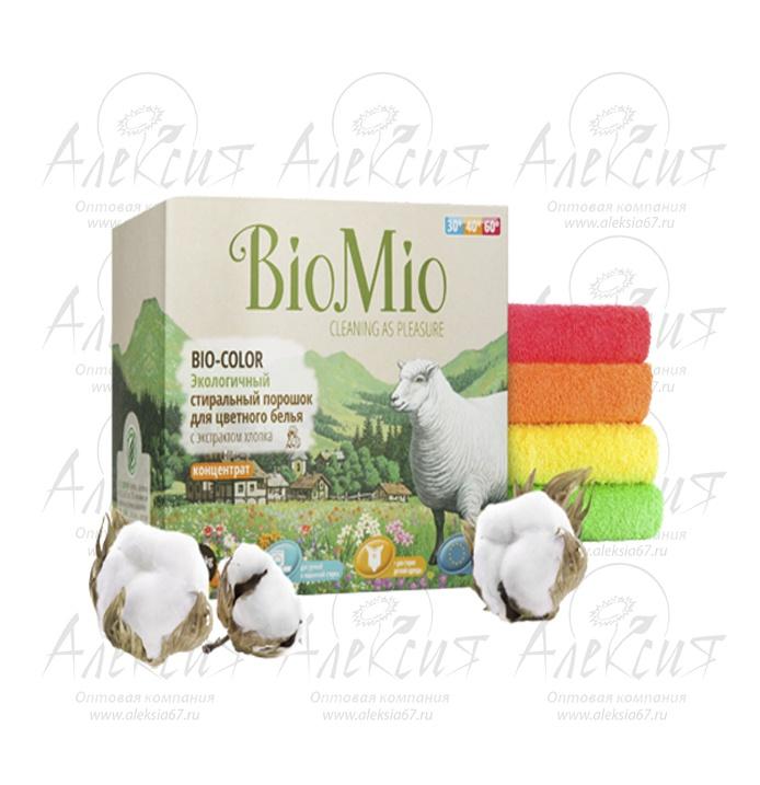 """""""BioMio"""" BIO-COLOR Экологичный стиральный порошок для цветного белья БЕЗ ЗАПАХА"""