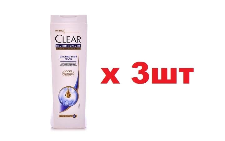 Clear Шампунь 400мл Максимальный объем 3шт