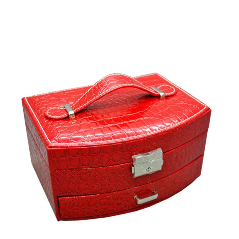 SP-01105-RED Шкатулка для украшений -2х уровневая