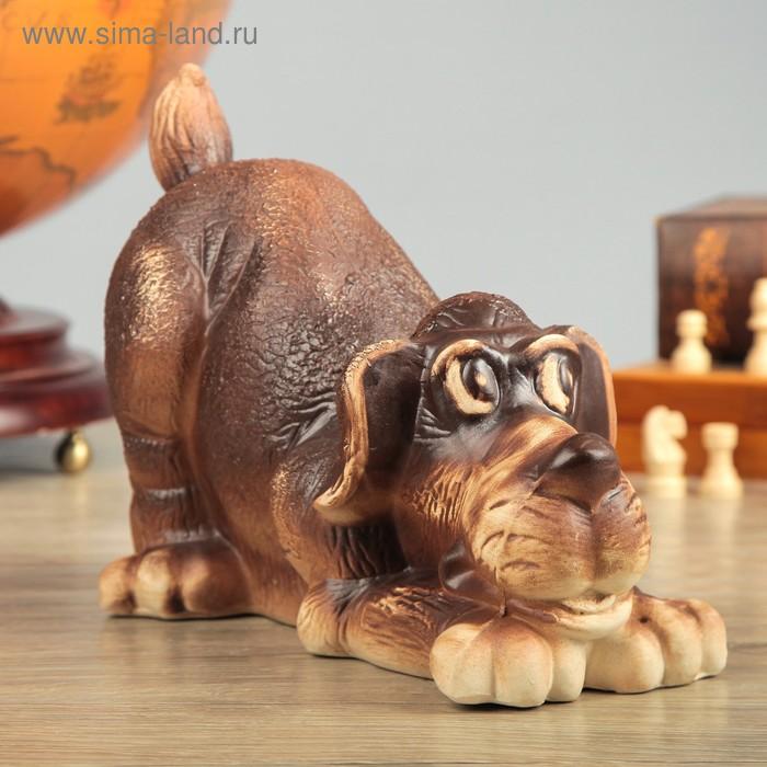 """Копилка """"Собака Ричард"""", шамот"""
