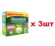 CLEAN AND FRESH ALL IN 1 14ШТ ТАБЛЕТКИ ДЛЯ ПОСУДОМОЕЧНЫХ МАШИН 3ШТ