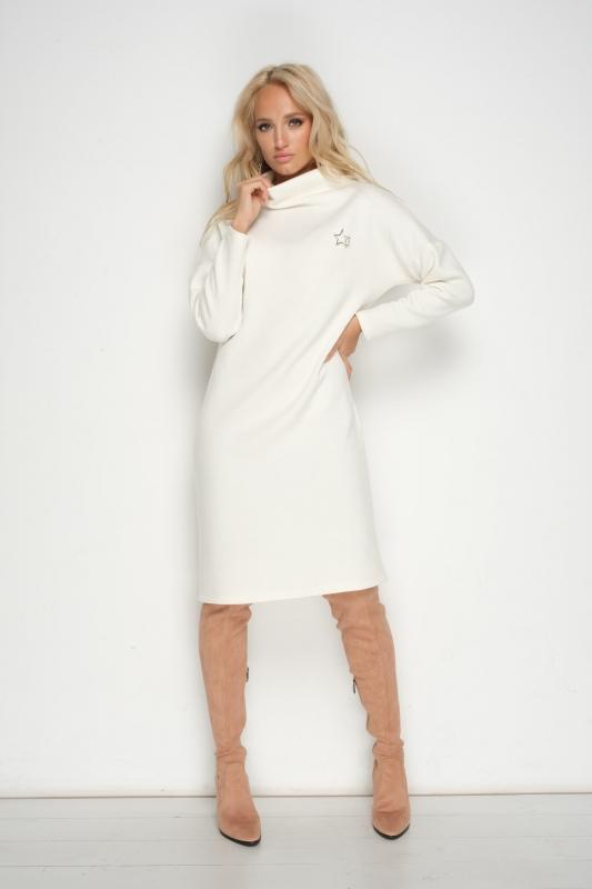 Тёплое платье с ангорой