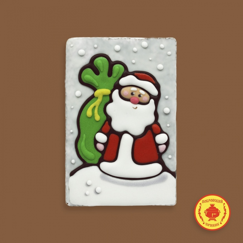 Дед мороз на снегу