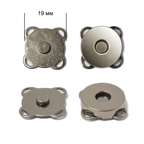 Кнопка магнитная пришивная TBY.MKK 19мм цв. никель черный уп. 50шт