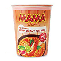 Лапша быстрого приготовления со вкусом сливочно-креветочного супа Том Ям от MАМА в стаканчике 42 г