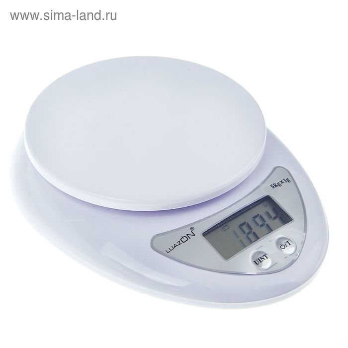 Весы LuazON LVK-501, электронные, кухонные, до 5 кг, белые