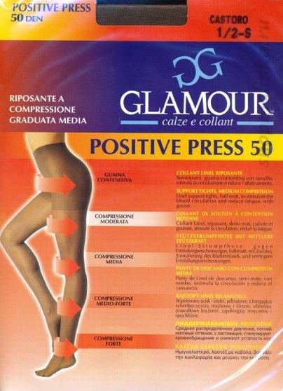 Колготки классические Glamour Positive Press 50