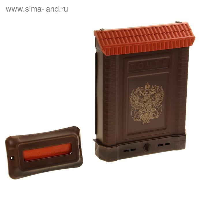Ящик почтовый «Премиум», вертикальный, с замком, с накладкой, цвет МИКС