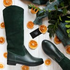 Сапоги темно-зеленого цвета Арт. 12-17V
