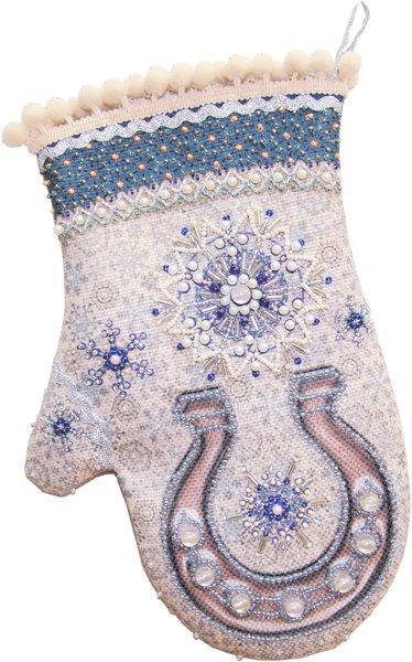 Набор для шитья и вышивания варежка арт.МП-18х25 - 8205 Мерцающий иней