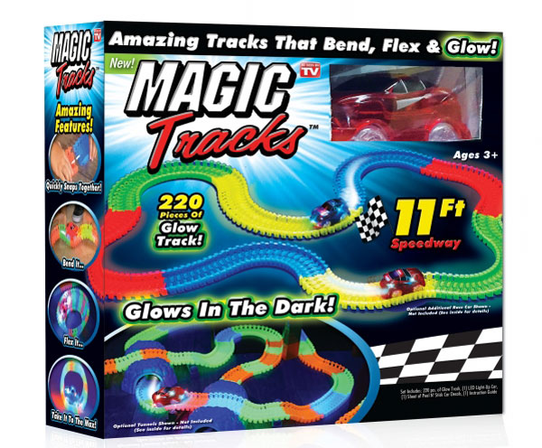 Волшебный трек/трасса конструктор Magic Tracks 220 деталей с турбо машинкой 112223